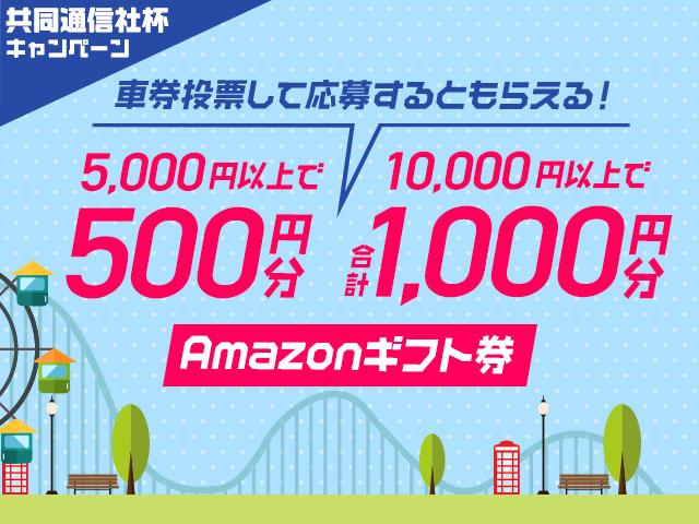 共同通信社杯キャンペーン!netkeirin経由で車券投票して応募すると最大1,000円分のAmazonギフト券がもらえる!